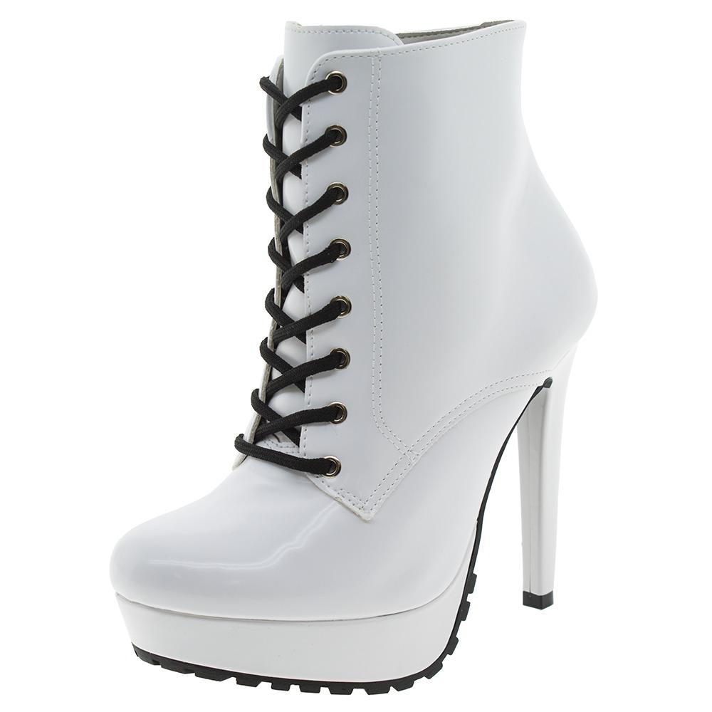 03965163c bota feminina coturno branca via marte - 167356. Carregando zoom.