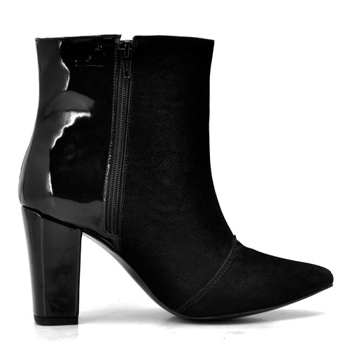 bota feminina coturno cano baixo preta estilo  arezzo schutz