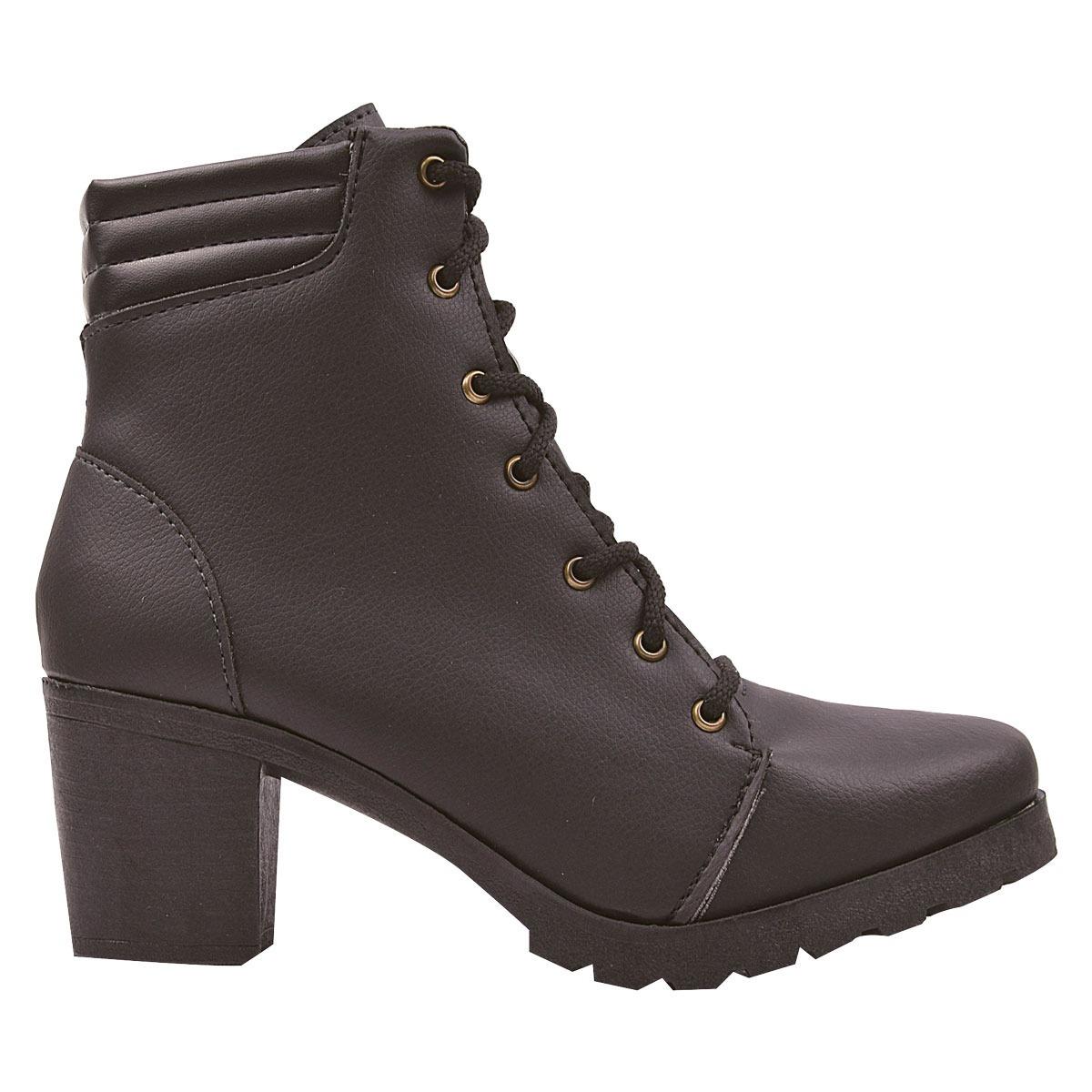 16f6d9057 bota feminina coturno chiquiteira cano curto tratorada grl. Carregando zoom.