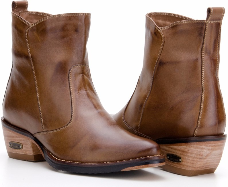 1322674c8 Bota Feminina Country Cano Baixo Couro Legitim Capelli Boots - R ...