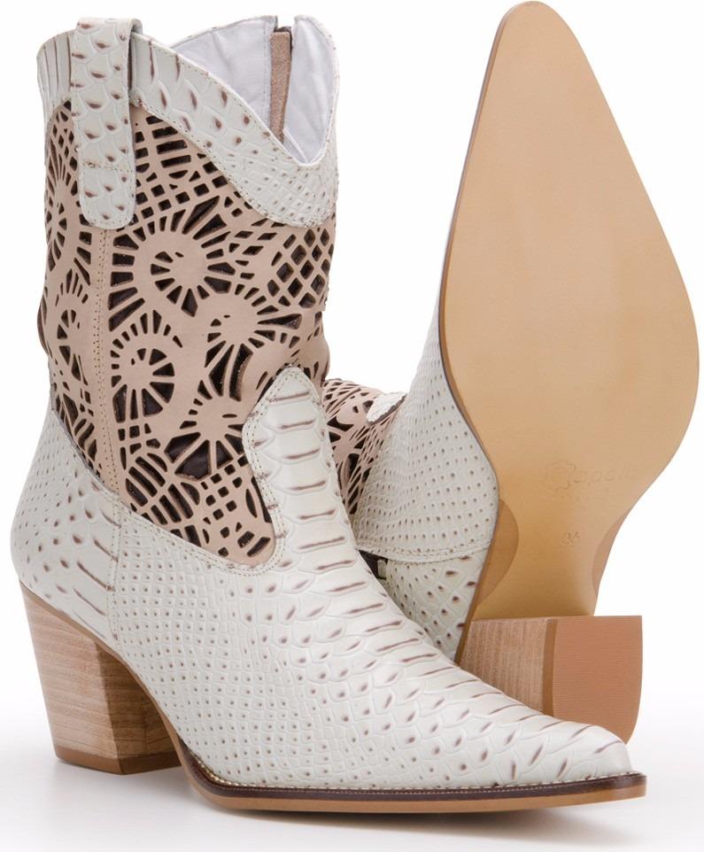 3b175ed433a bota feminina country cano curto texana couro capelli boots. Carregando  zoom.