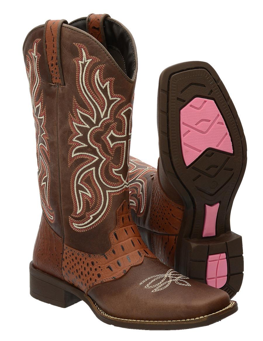9207bb48f6 bota feminina country texana bico quadrado cano bordado. Carregando zoom.