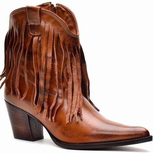 bota feminina country/texana/cano baixo - capelli boots