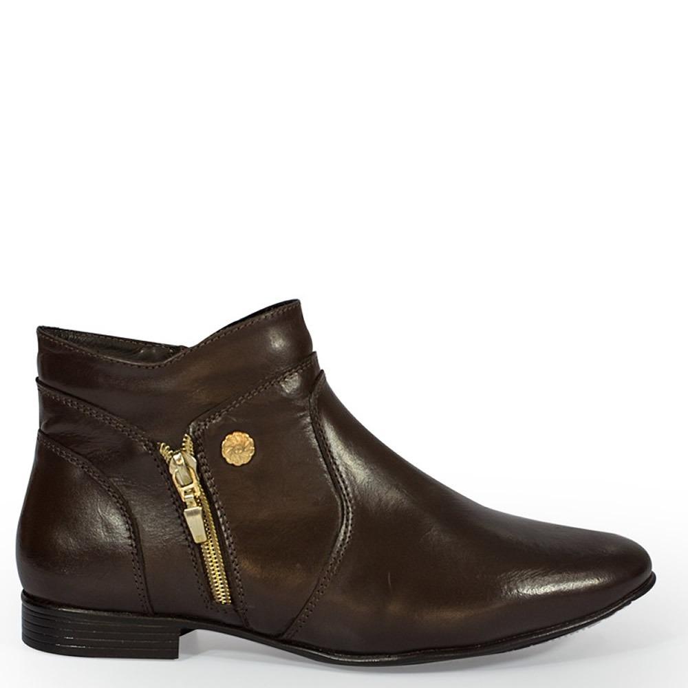 a6dee55539 bota feminina couro cano curto barata. Carregando zoom.