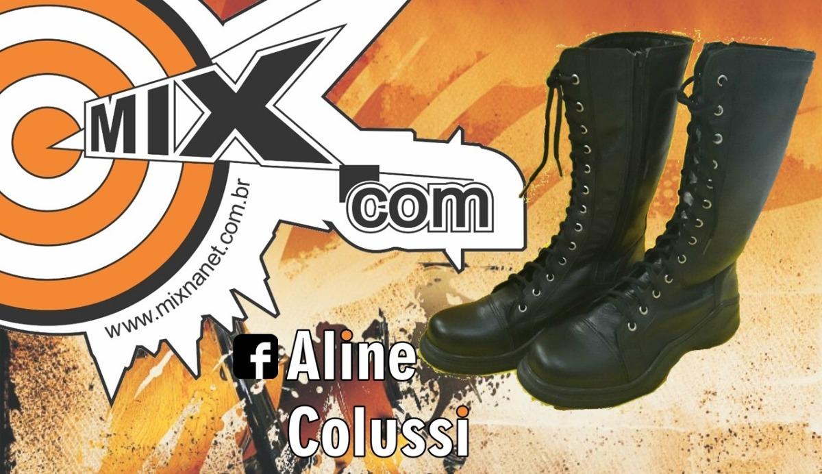 67f88ada5 bota feminina couro estilo coturno militar metal dark gótico. Carregando  zoom.