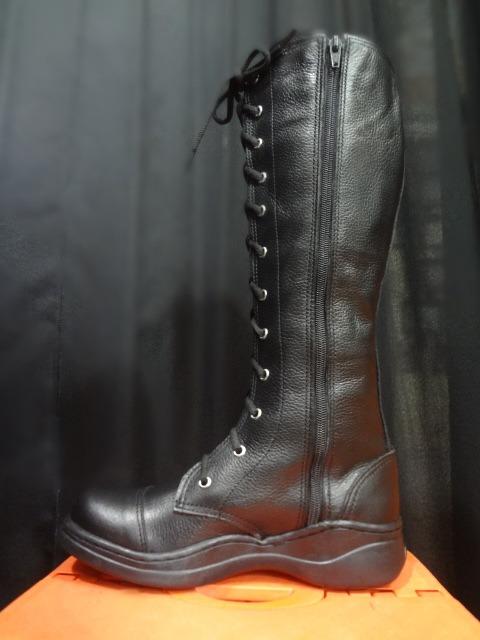 755f65b72 Bota Feminina Couro Estilo Coturno Militar Metal Dark Gótico - R ...