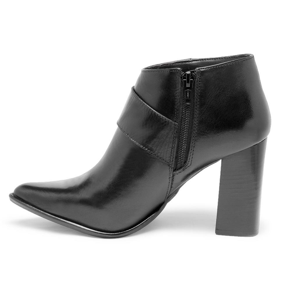 da8f07d38 bota feminina couro legítimo cano curto salto alto andarezzy. Carregando  zoom.