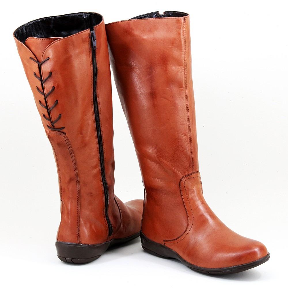 97e10a777 bota feminina couro legítimo linda rasteira cano longo luxo. Carregando zoom .