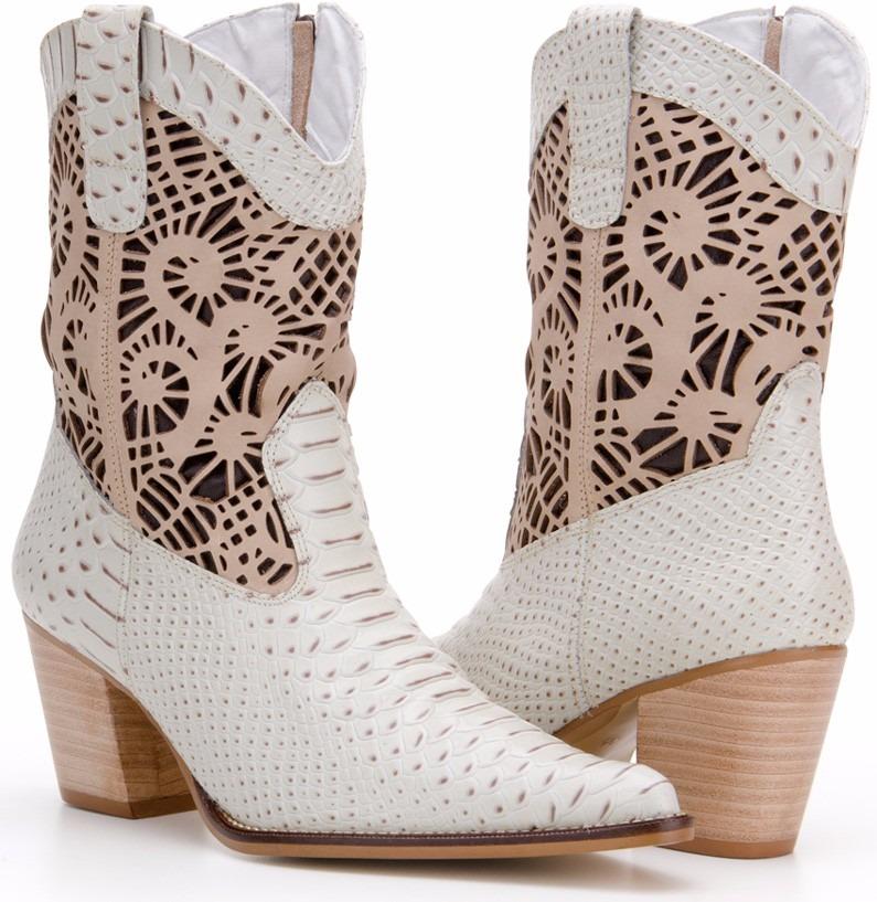 6fcdb20f75 bota feminina couro legitimo texana branca - noiva country. Carregando zoom.