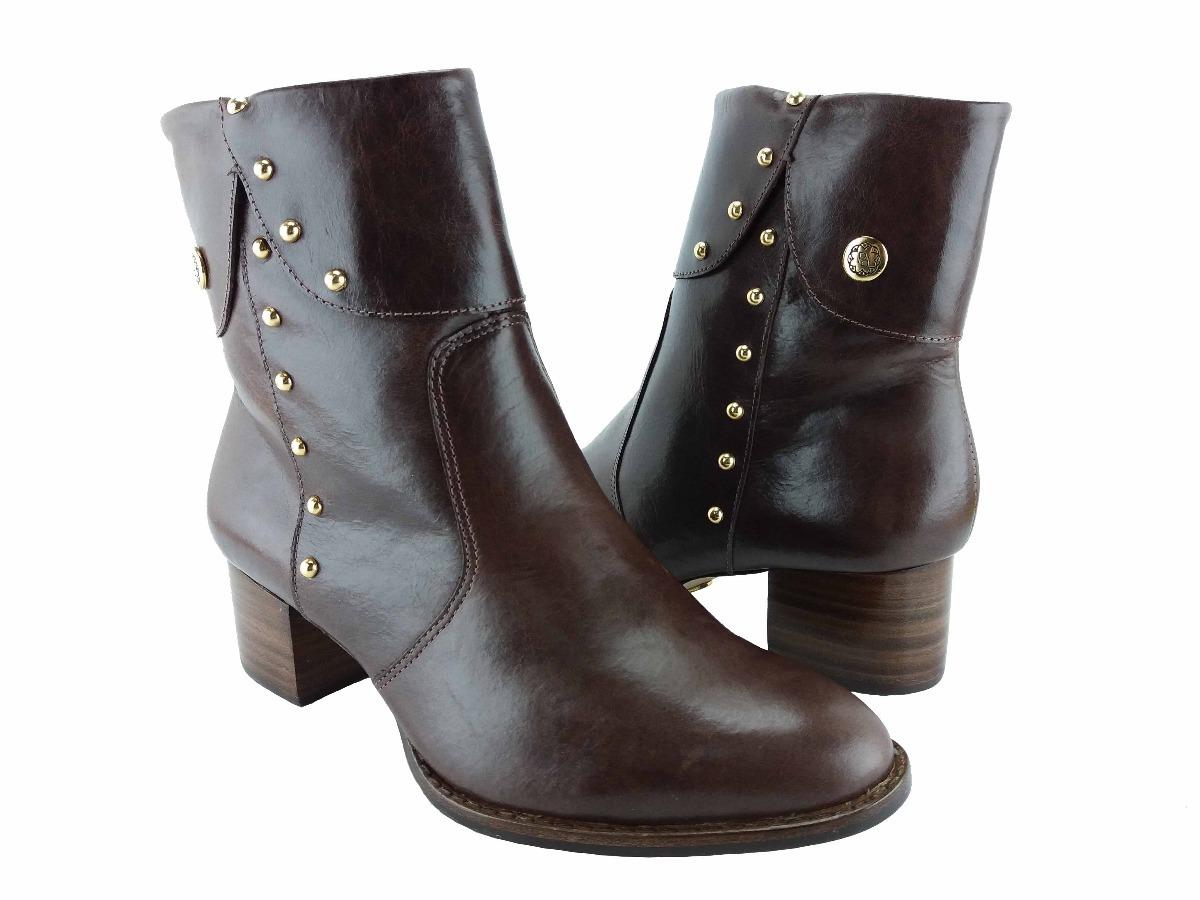1dfed0e2f6 bota feminina couro marrom milano café paraonda 100591. Carregando zoom.
