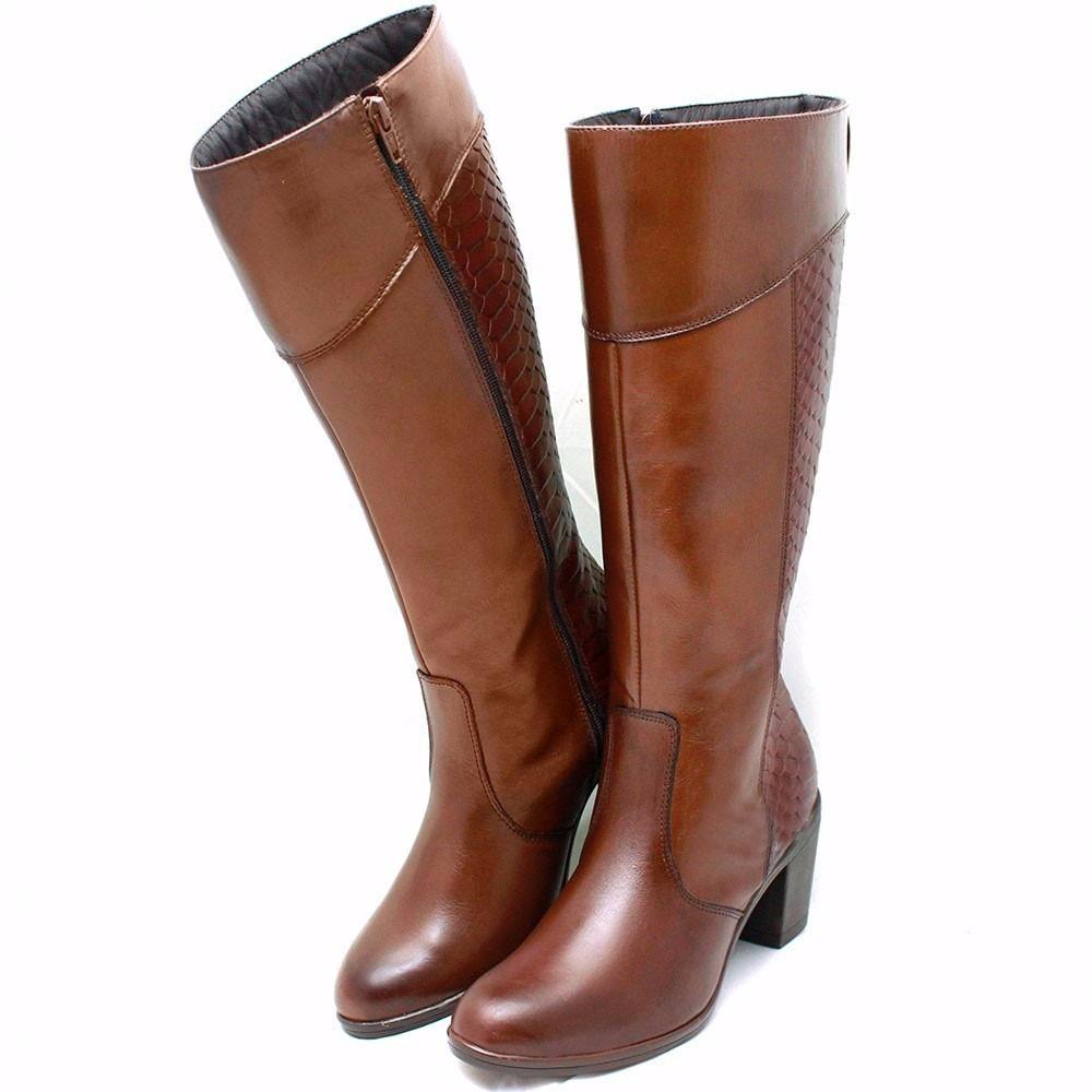 520031dc7 bota feminina couro promoção frete grátis botinha chocolate. Carregando  zoom.