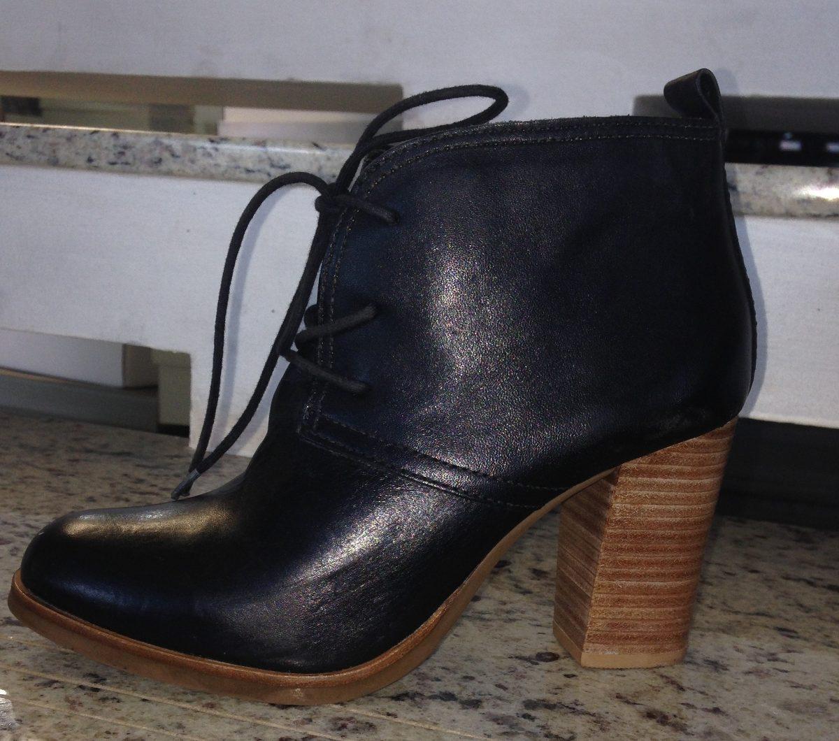 666ba5bef9 bota feminina curta cadarço salto alto - couro legítimo. Carregando zoom.