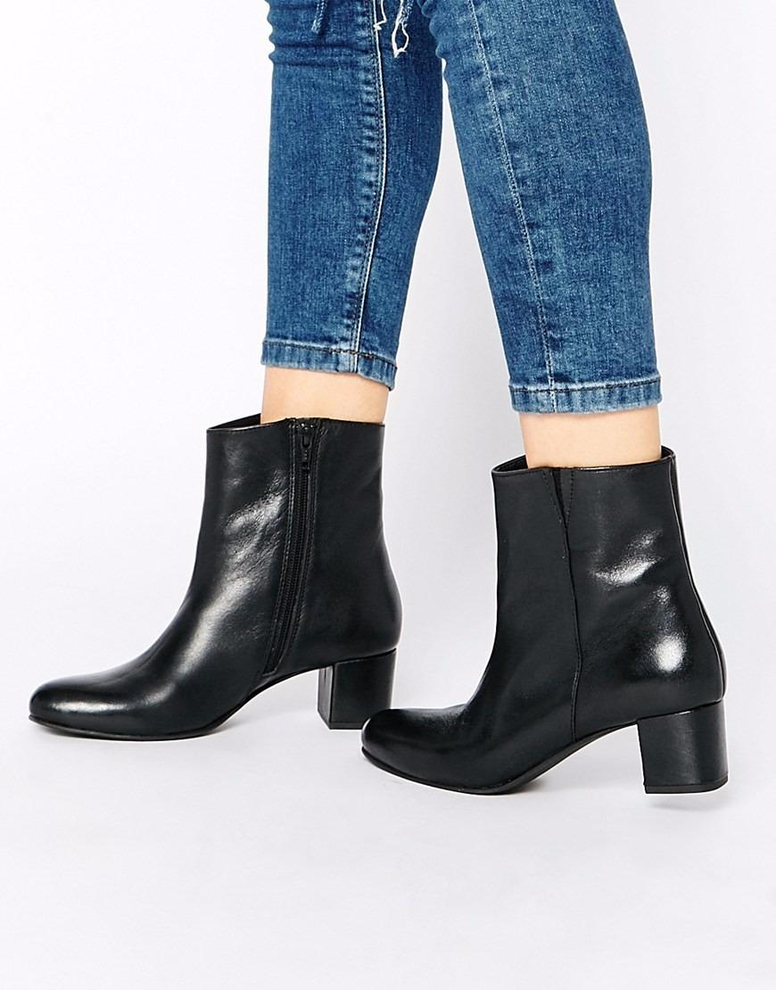4ecf274dac bota feminina de couro cano curto bota chelsea chelsea boots. Carregando  zoom.