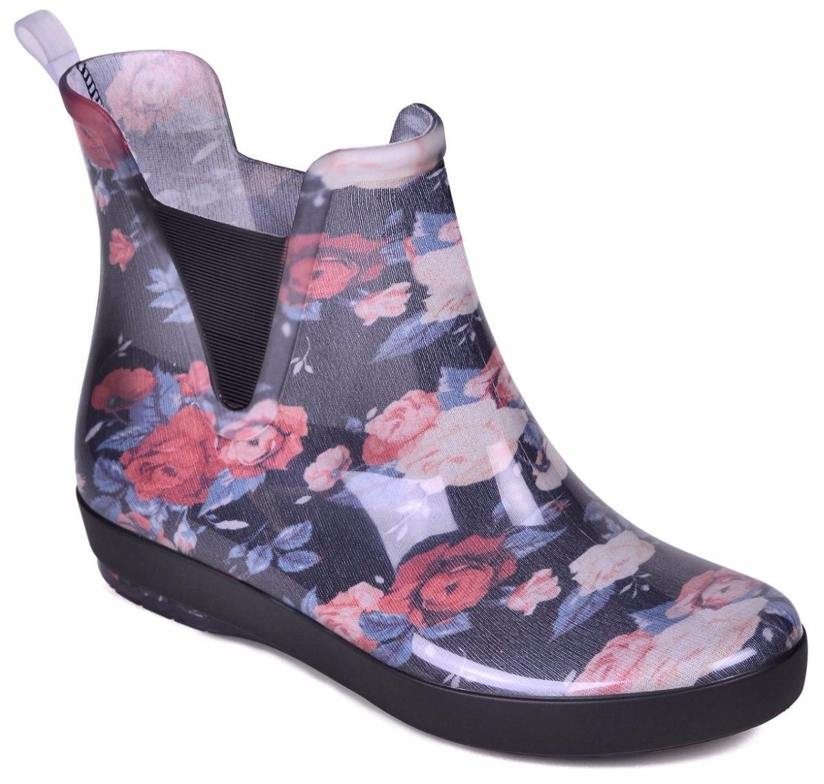 1f29435151a bota feminina galocha boa onda floral holli 1702-202. Carregando zoom.