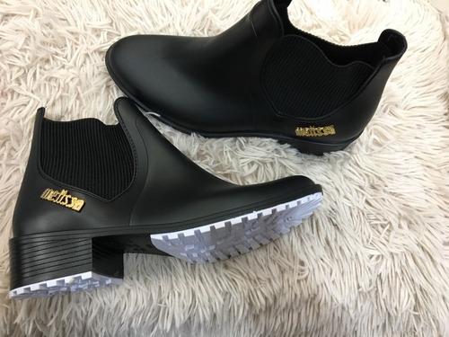 bota feminina melissa colorida tendência pronta entrega
