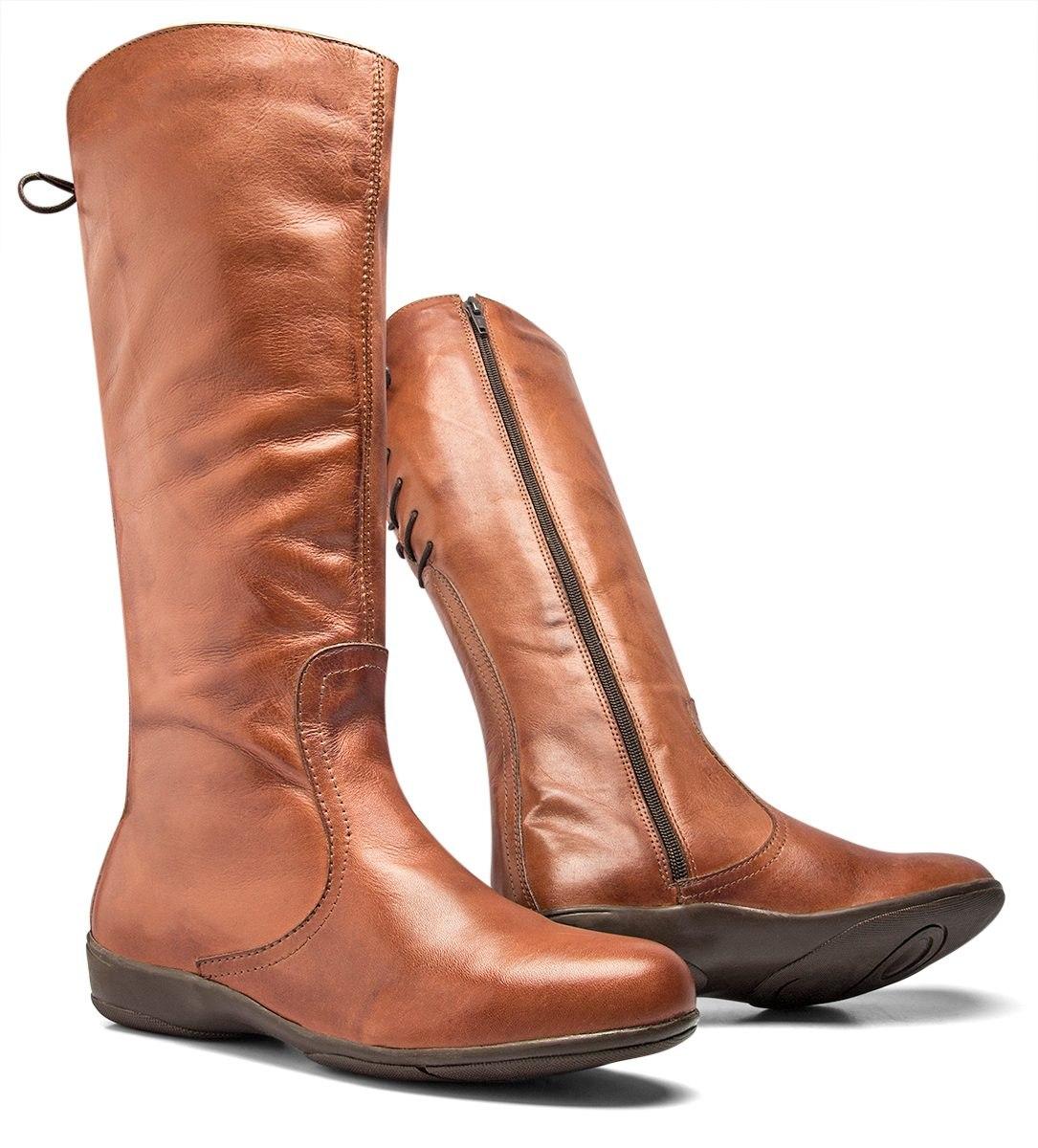 faa430669 bota feminina montaria texana cano longo ajustável couro. Carregando zoom.