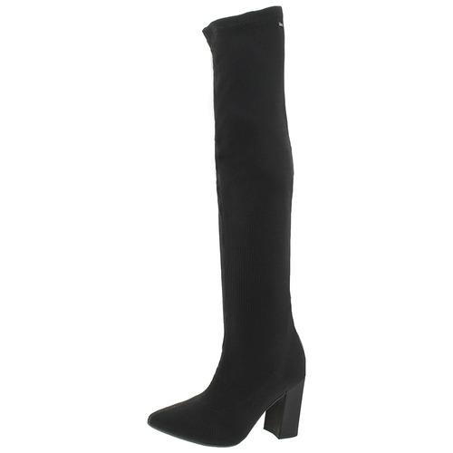 bota feminina over knee preta dakota - b9652