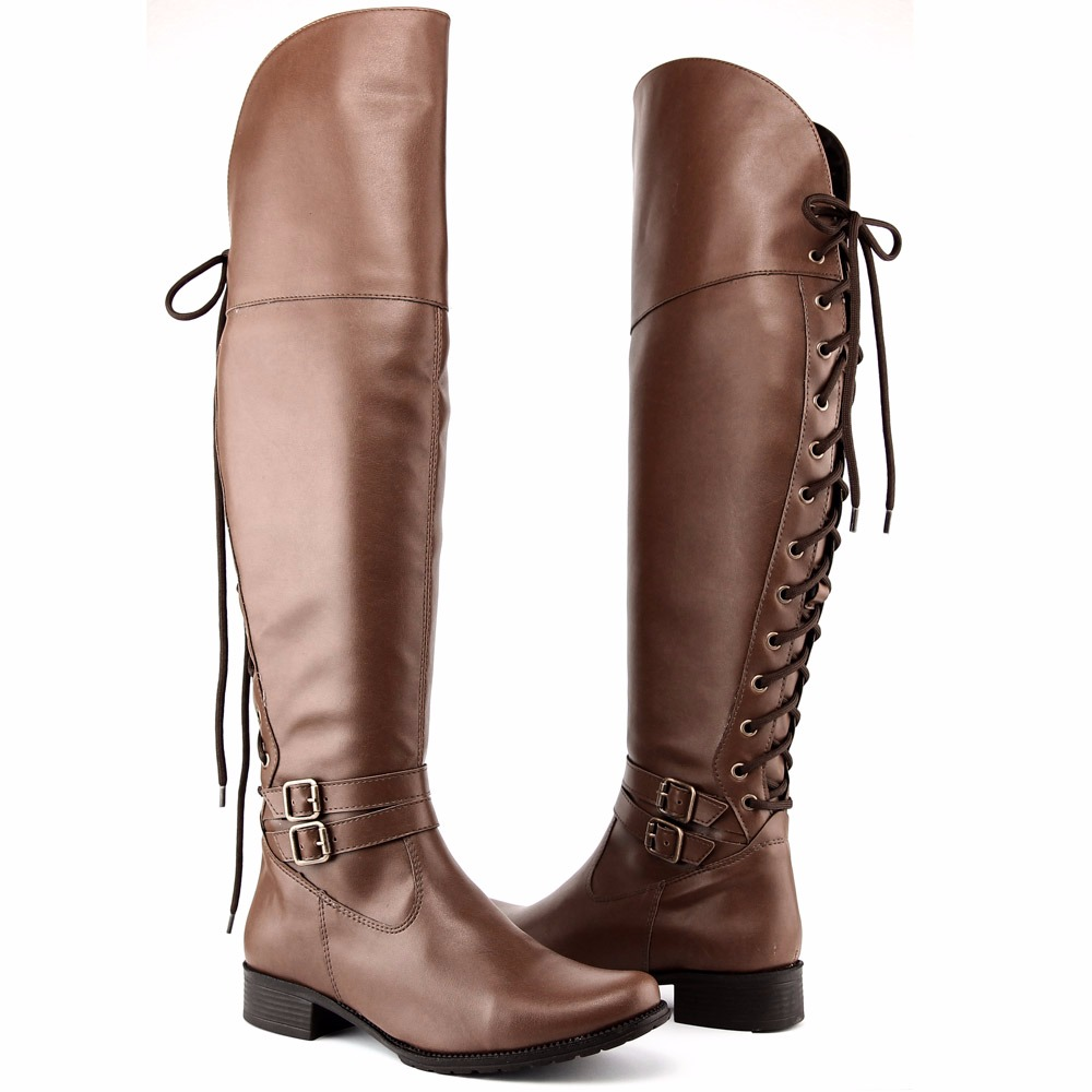 8d12f2c0a bota feminina over the knee cano alto amarrar inverno 2018. Carregando zoom.