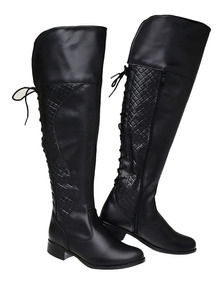 a53bbcbac5 Bota Over The Knee Marrom Claro - Sapatos com o Melhores Preços no Mercado  Livre Brasil