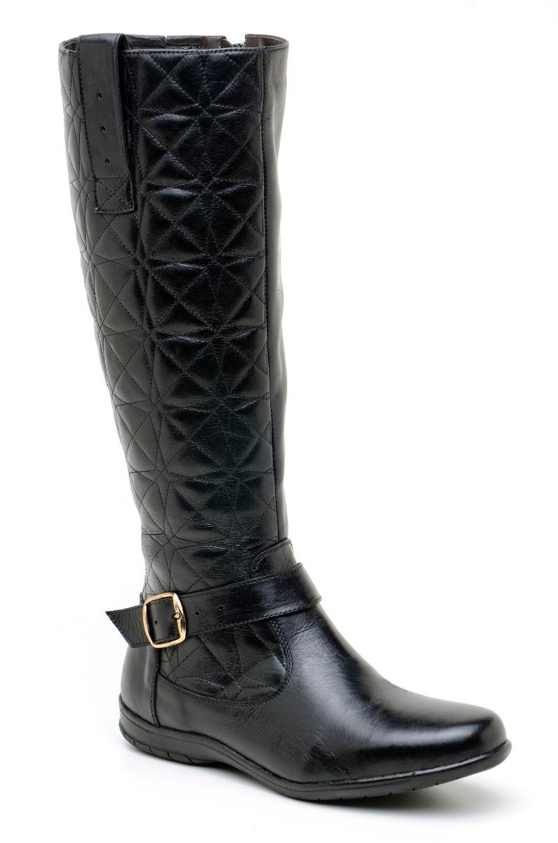 d8731a9c08 bota feminina rasteira cano longo   alto em matelassê preto. Carregando  zoom.