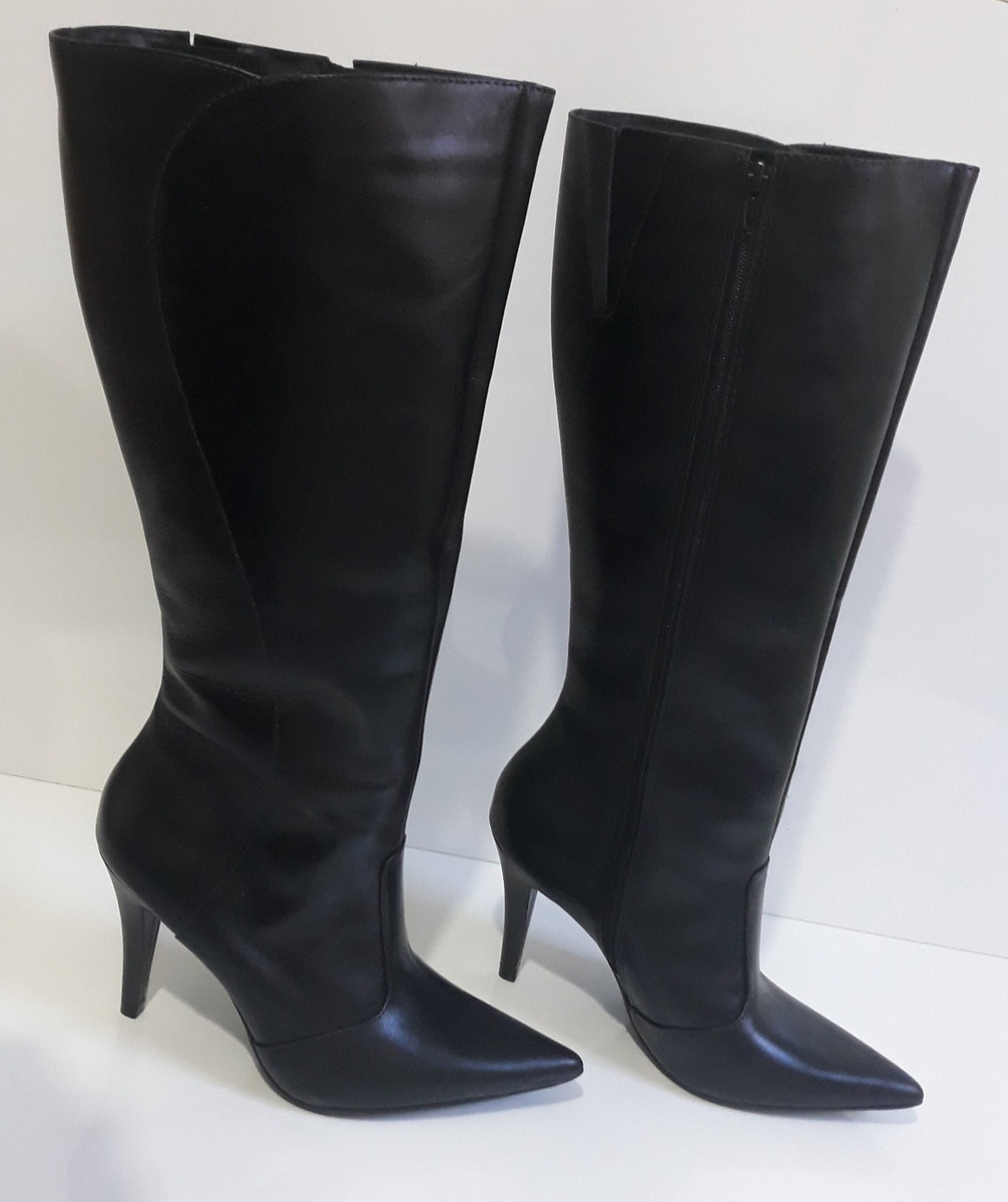 888c34f195 bota feminina salto alto 9,5cm cano longo couro legitimo top. Carregando  zoom.