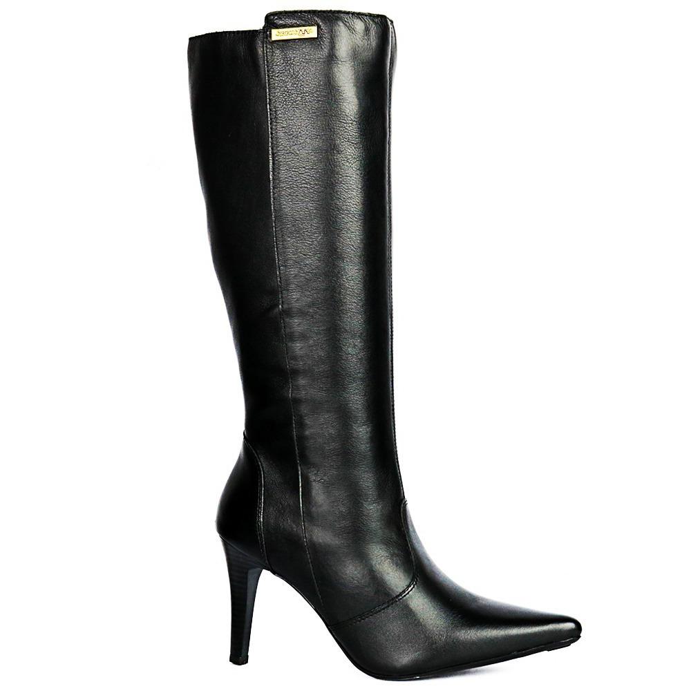 00f1d2e33 bota feminina salto alto couro cano longo luxuosa inverno. Carregando zoom.