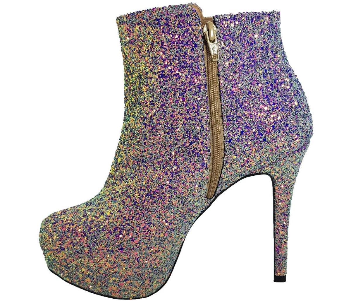c870c54ca4 bota feminina salto alto glitter numeração especial cód 28. Carregando zoom.
