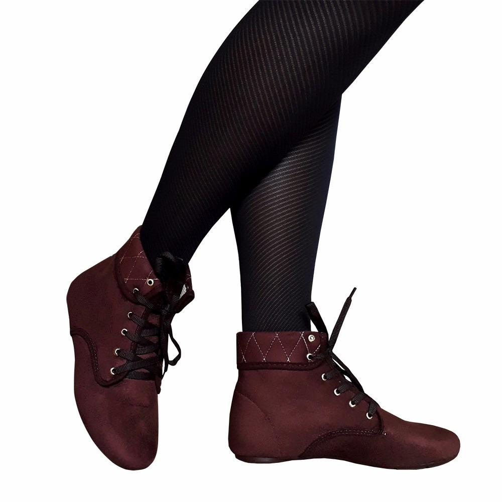 dbdb8bbea7 bota feminina salto baixo cano baixo bico redondo oferta. Carregando zoom.