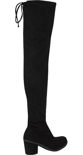 bota feminina salto curto over the knee cano alto até a coxa