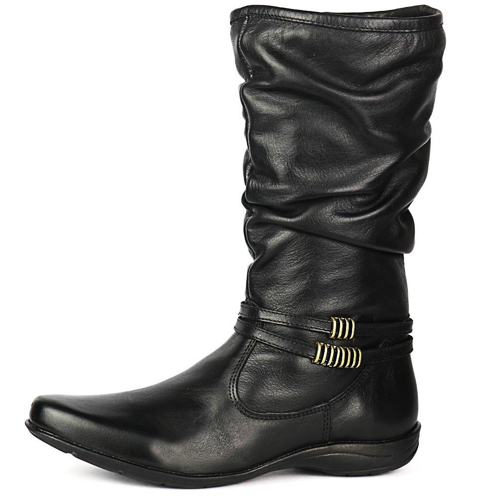 839995b0a2a bota feminina sanfonada couro legítimo alta qualidade. Carregando zoom.