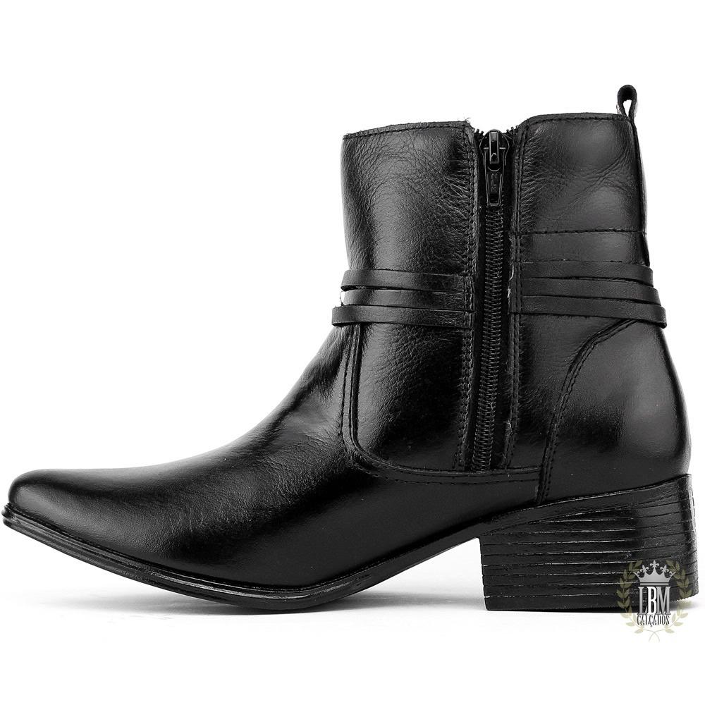 2088096e261 bota feminina social frete gratis cano curto couro luxo. Carregando zoom.