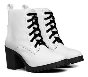 f8b050fbd7 Bota Tratorada Com Cadarço - Sapatos Branco com o Melhores Preços no ...