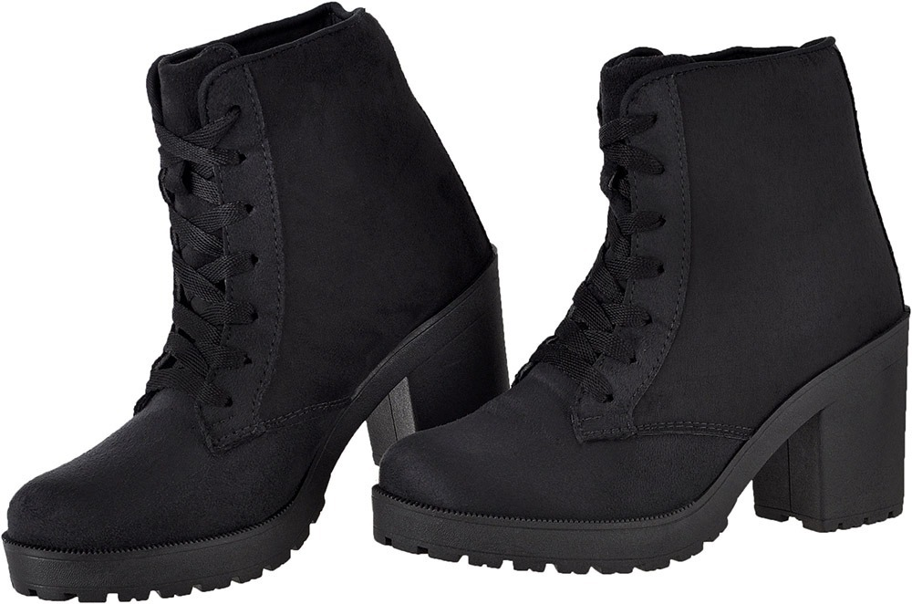 399c783024c bota feminina tratorada camurça salto grosso dhl calçados. 4 Fotos
