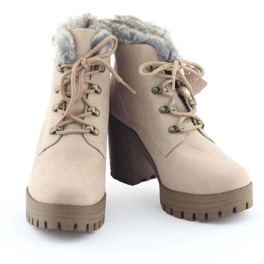 e8e30bdcac bota feminina tratorada g0093 cadarço pelinho - dakota. Carregando zoom.