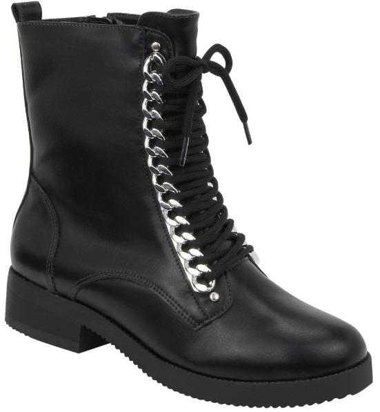 da311d132 Bota Feminina Via Marte Ankle Boot Coturno 18-3303 - Preto - R$ 206 ...