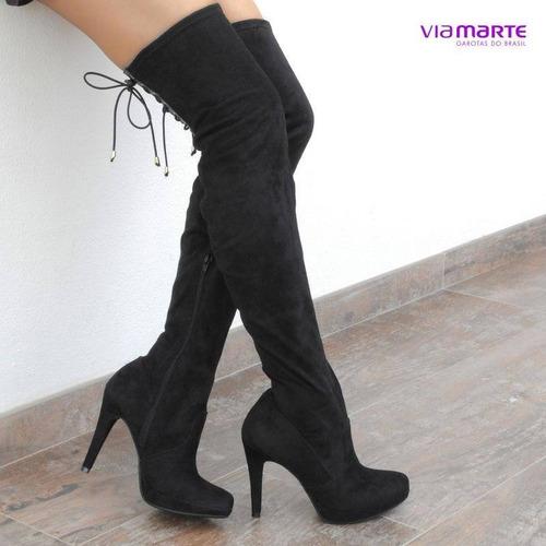 bota feminina via marte over knee 17-2406 | katy calçados