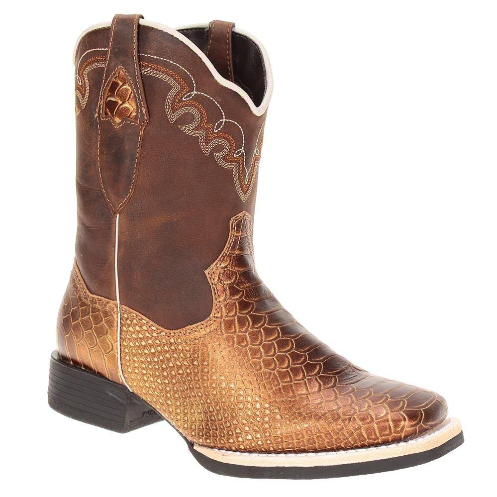 a559e66f32 bota feminina western cobra snake bronze - west country. Carregando zoom.