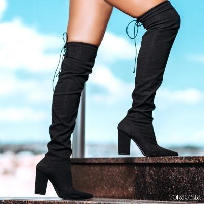 06d067c5b7 Bota feminina Camura Com cadaro Salto alto Salto grosso Marca