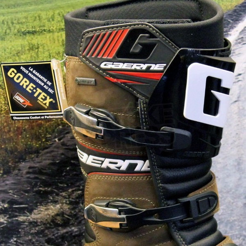 bota gaerne impermeavel all terrain gore-tex marrom