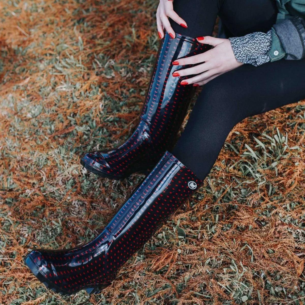 bd32ddbaf94 bota galocha de borracha feminina adulto bota chuva coração. Carregando  zoom.