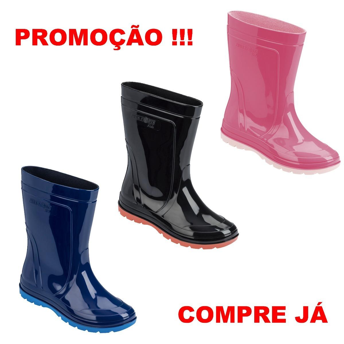 4995f19d0c4 Bota Galocha Infantil Azul rosa preta Kit C 3pares Borracha - R  126 ...