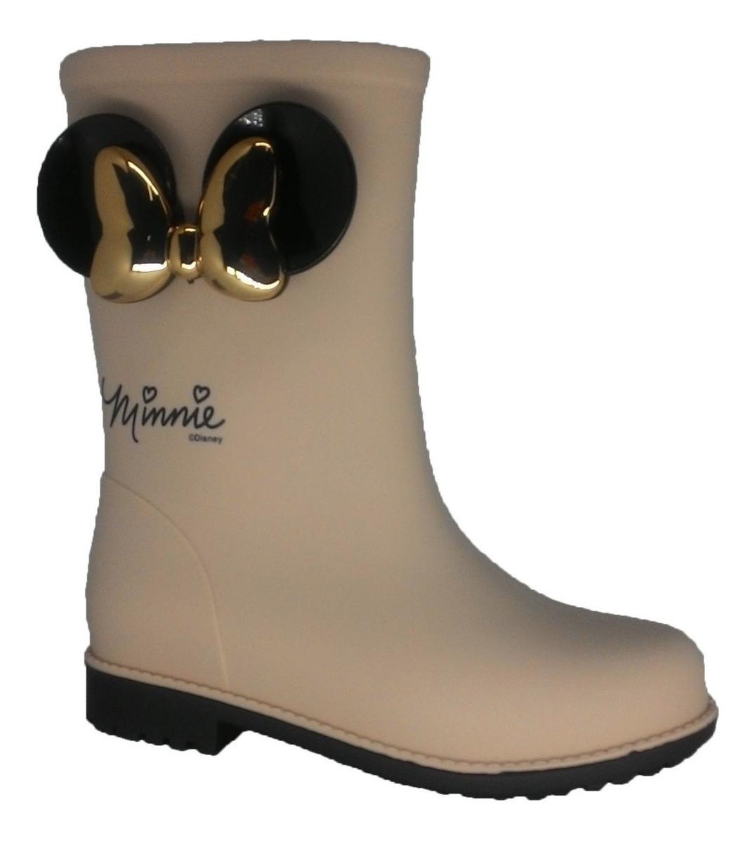 511cf0984f2dfa Bota Galocha Infantil Feminina Minnie Disney Fashion 10561