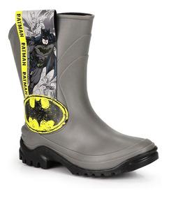 cb2f79c4631 Bota Galocha Infantil Grendene Batman Liga Da Justiça