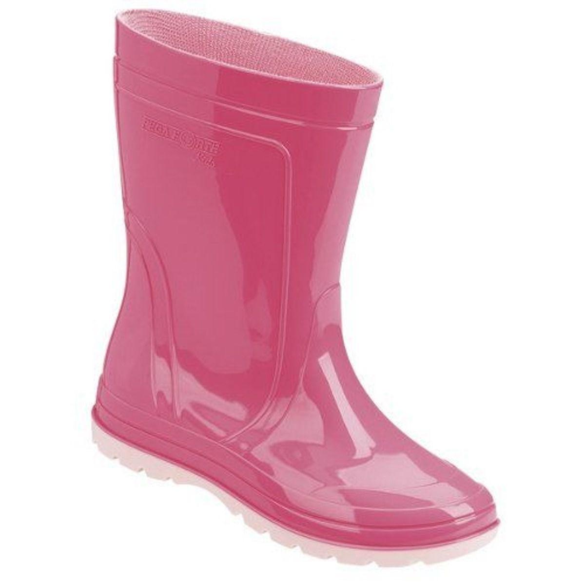 de12030733e bota galocha infantil rosa impermeável pvc borracha criança. Carregando zoom .