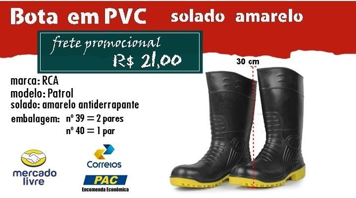 Bota Galocha Pvc Cano Alto Solado Amarelo, 3 Pares Oferta - R  97,20 ... 23229ade4e