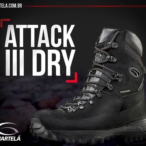 7018989a94562 Bota Guartelá Attack 3 Dry + 3 Brindes + Frete Grátis - R  588