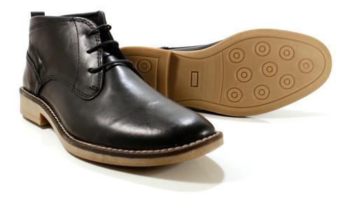 bota hombre cuero color negro diseño federico by ghilardi.