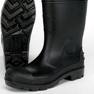 bota impermeable 100% pvc caña alta con puntera color negro