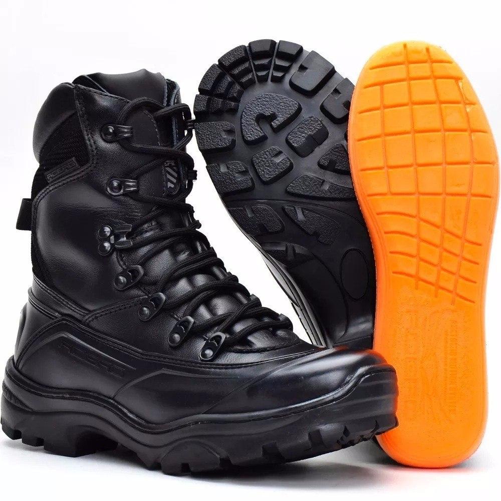 210be96168 bota impermeável couro cano alto motociclista militar tática. Carregando  zoom.