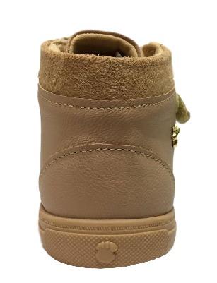 bota infantil feminina cano curto pe com pe nude -  28103